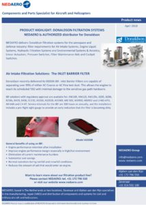 NEDAERO Product Newsletter April 2018 Donaldson Filtration Systems