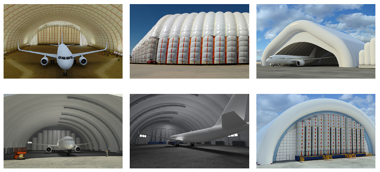 Aviation inflatable hangars