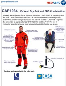 Life Vest, Dry Suit and EBS Combination