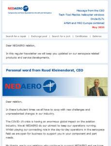 NEDAERO Newsletter May 2020